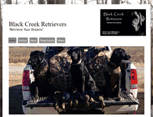 Tablet Preview of blackcreekretrievers.net